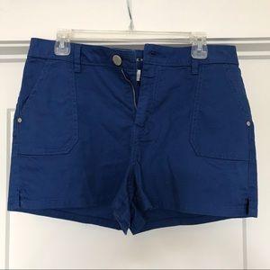 Lauren Conrad cobalt mid-rise shorts
